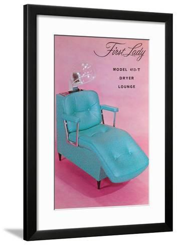 Lounge Chair for Hair Dryer--Framed Art Print