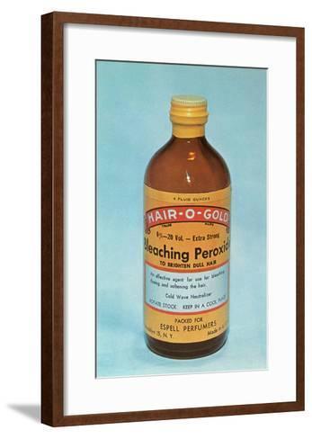 Hair-O-Gold Bleaching Peroxide--Framed Art Print