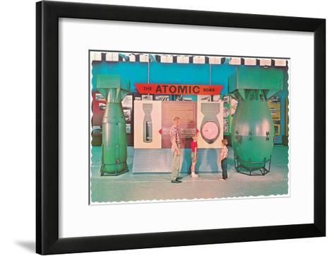 Museum Display of Atomic Bombs--Framed Art Print
