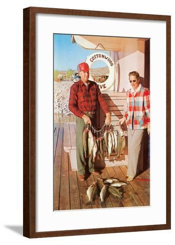 Caught Fish on the Deck--Framed Art Print