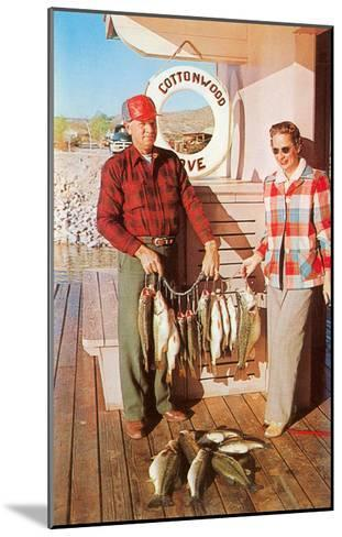 Caught Fish on the Deck--Mounted Art Print