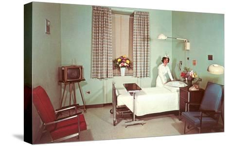 Hospital Room of the Fifties--Stretched Canvas Print