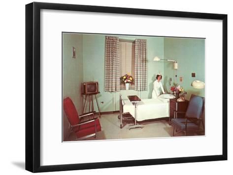 Hospital Room of the Fifties--Framed Art Print