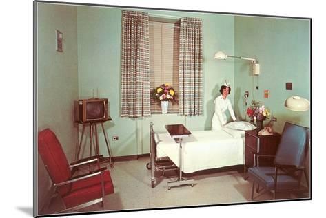 Hospital Room of the Fifties--Mounted Art Print