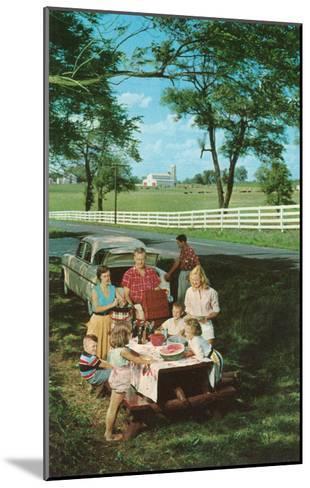 Roadside Family Picnic--Mounted Art Print