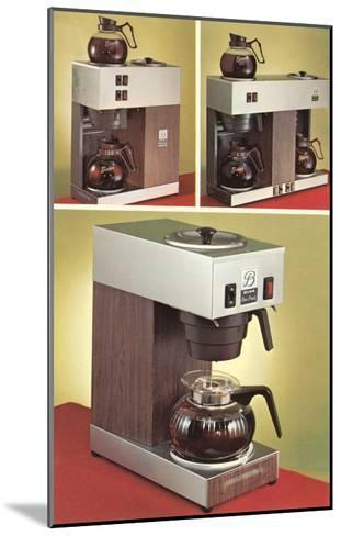 Automatic Coffee Makers--Mounted Art Print