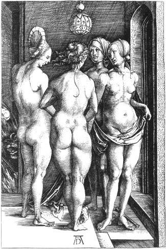 Durer: Four Witches, 1497-Albrecht D?rer-Stretched Canvas Print