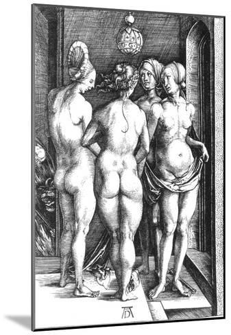 Durer: Four Witches, 1497-Albrecht D?rer-Mounted Giclee Print