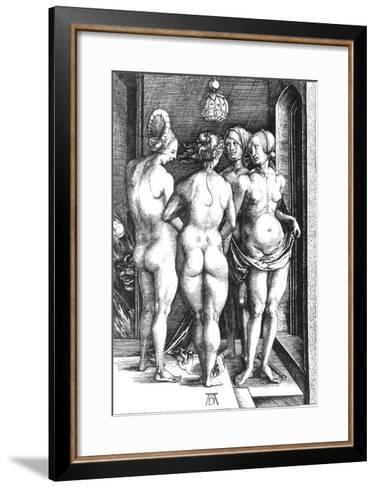 Durer: Four Witches, 1497-Albrecht D?rer-Framed Art Print