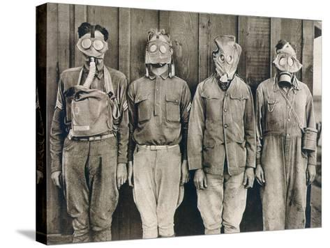 World War I: Gas Warfare--Stretched Canvas Print