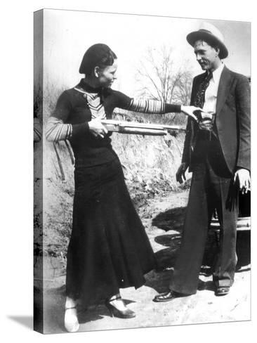 Bonnie And Clyde, 1933--Stretched Canvas Print