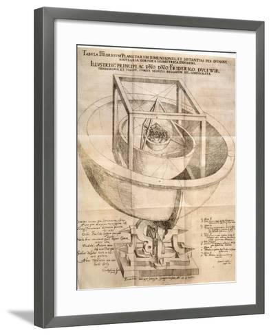 Kepler's Universe, 1596-Johannes Kepler-Framed Art Print