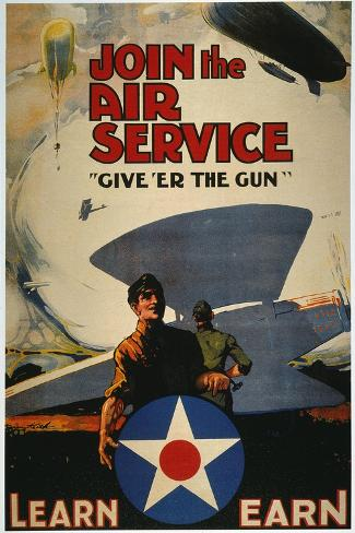 World War I: Air Service--Stretched Canvas Print