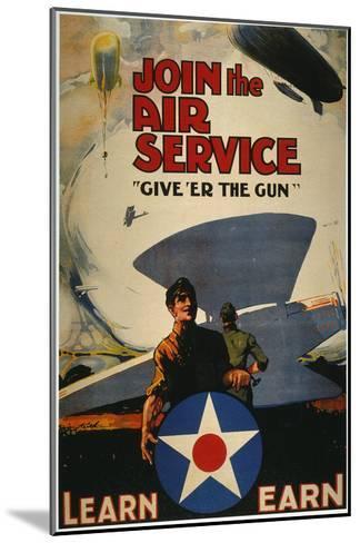 World War I: Air Service--Mounted Giclee Print