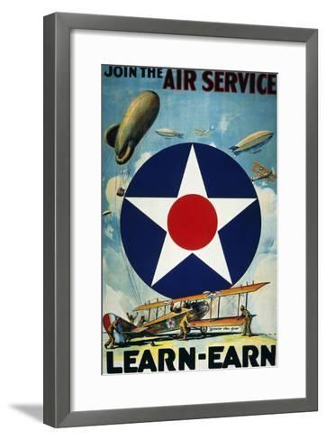 World War I: Air Service.--Framed Art Print