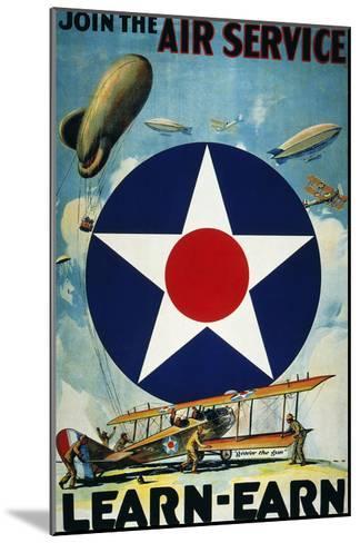 World War I: Air Service.--Mounted Giclee Print