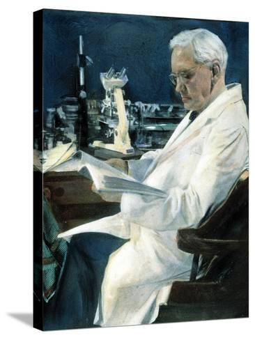 Sir Alexander Fleming--Stretched Canvas Print
