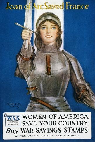 World War I: Savings Stamp--Stretched Canvas Print