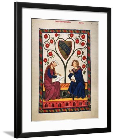 German Minnesinger 14Th C--Framed Art Print