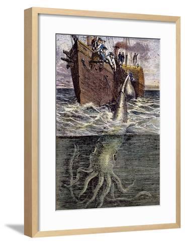 Sea Monster--Framed Art Print