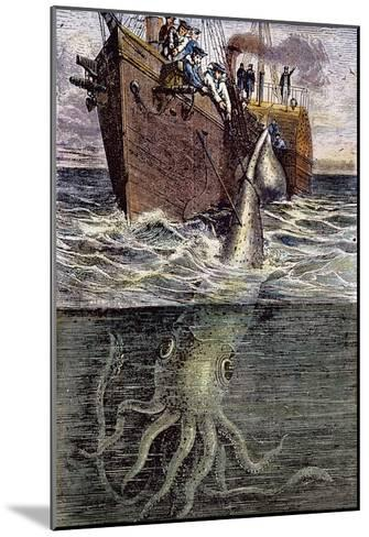 Sea Monster--Mounted Giclee Print