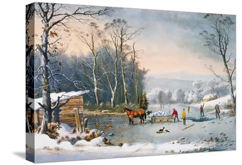 Currier & Ives Winter Scene-Currier & Ives-Stretched Canvas Print