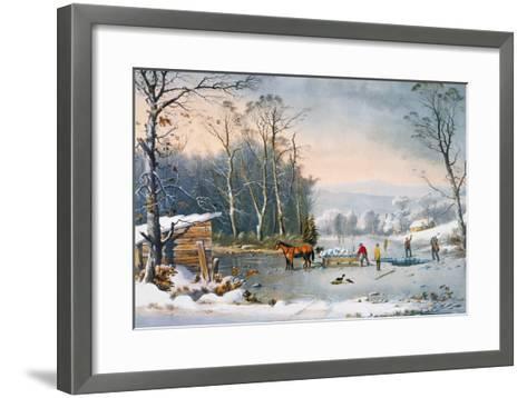 Currier & Ives Winter Scene-Currier & Ives-Framed Art Print