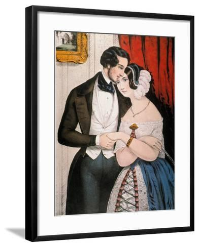 Lovers Reconciliation-Currier & Ives-Framed Art Print