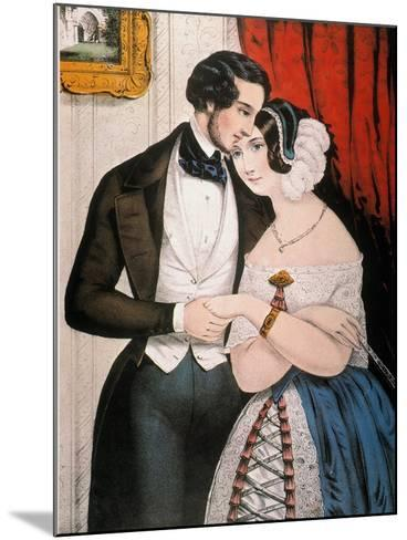 Lovers Reconciliation-Currier & Ives-Mounted Giclee Print