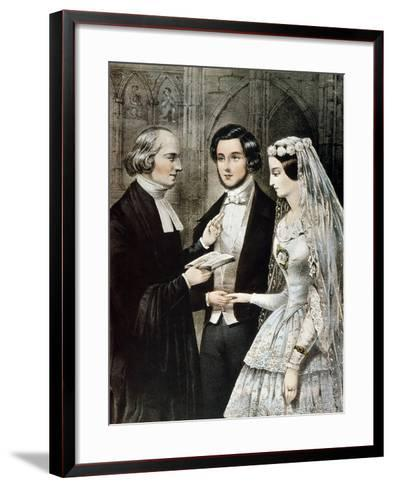 Currier: The Marriage-Currier & Ives-Framed Art Print