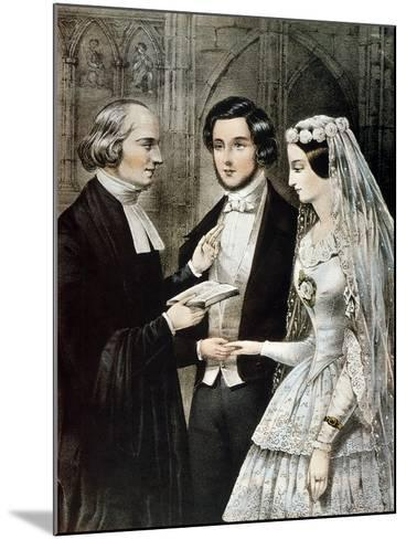 Currier: The Marriage-Currier & Ives-Mounted Giclee Print