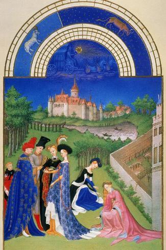 Tres Riches Heures: April--Stretched Canvas Print