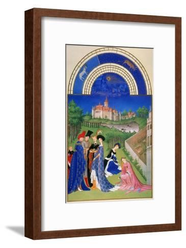 Tres Riches Heures: April--Framed Art Print