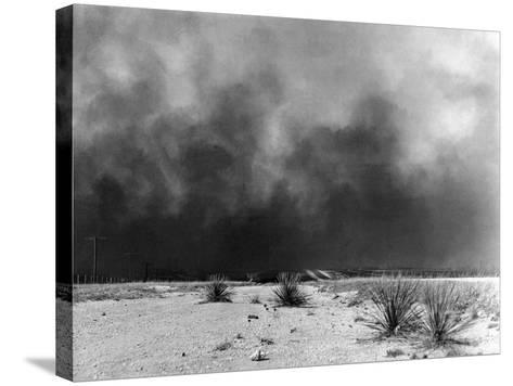 Drought: Dust Storm, 1936--Stretched Canvas Print