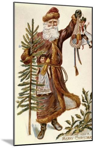 American Christmas Card--Mounted Giclee Print