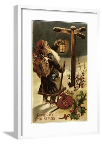 American Christmas Card--Framed Art Print