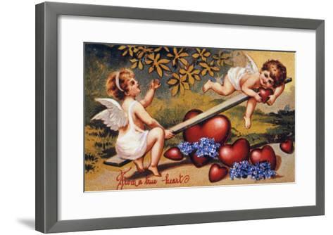 Valentine's Day Card--Framed Art Print