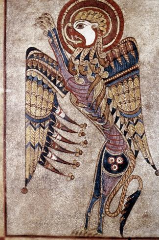 Book Of Kells: Saint Mark--Stretched Canvas Print