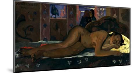 Gauguin: Nevermore, 1897-Paul Gauguin-Mounted Giclee Print