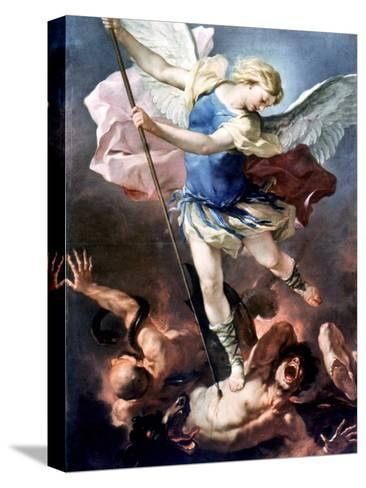 The Archangel Michael-Luca Giordano-Stretched Canvas Print