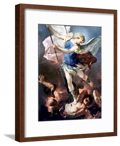 The Archangel Michael-Luca Giordano-Framed Art Print