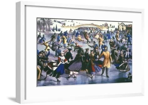 Central Park, Nyc, 1862-Currier & Ives-Framed Art Print