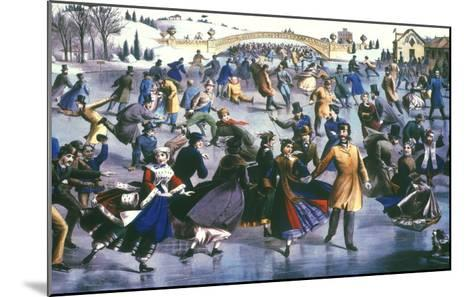Central Park, Nyc, 1862-Currier & Ives-Mounted Giclee Print