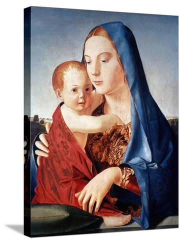 Antonello: Virgin & Child-Antonello da Messina-Stretched Canvas Print