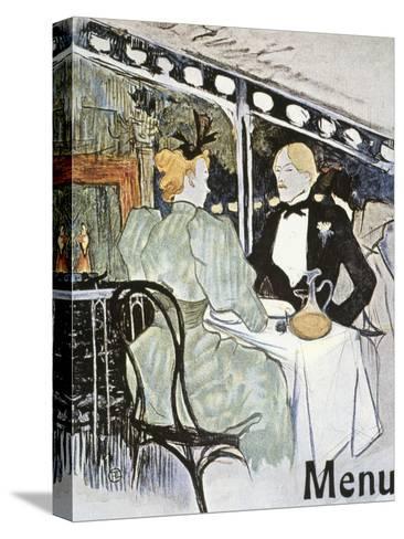 Toulouse-Lautrec: Menu-Henri de Toulouse-Lautrec-Stretched Canvas Print