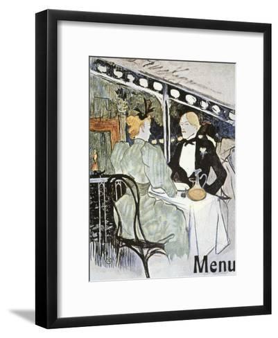 Toulouse-Lautrec: Menu-Henri de Toulouse-Lautrec-Framed Art Print