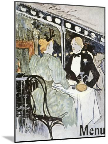 Toulouse-Lautrec: Menu-Henri de Toulouse-Lautrec-Mounted Giclee Print