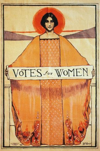 Votes For Women, 1911--Stretched Canvas Print
