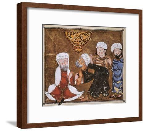 Muslim Court, 1334 A.D--Framed Art Print