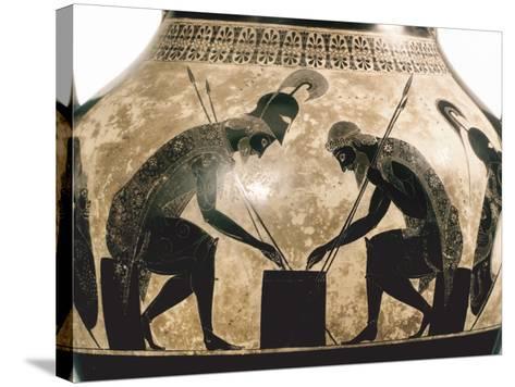 Achilles & Ajax, C540 B.C- Exekias-Stretched Canvas Print